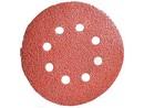 Brusný disk výsek VELUR průměr 125 zrnitost 100 8děr