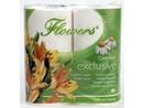 Toaletní papír Flowers 3-vrstvý 4 role Camomile