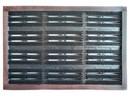 Rohož kartáčová 12dílná plastové těleso, dřevěný rám 41,5x63cm/281602700