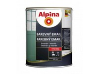 Caparol Alpina email lesk hnědý RAL 8003   0,75 L